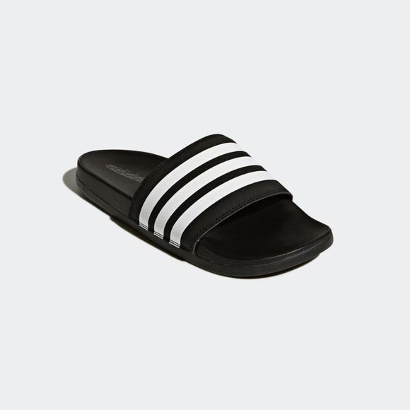 new style 47fc3 cef92 adidas Shoes - Adidas Adilette Cloudfoam Plus Stripes Slides